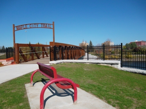 Maple City Trail at Pedestrian Bridge 2