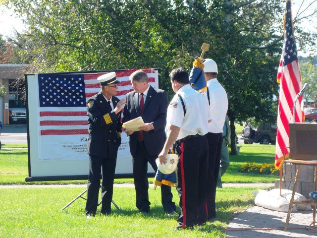 September 11 2011 Fire Chief  Mayor  VFW