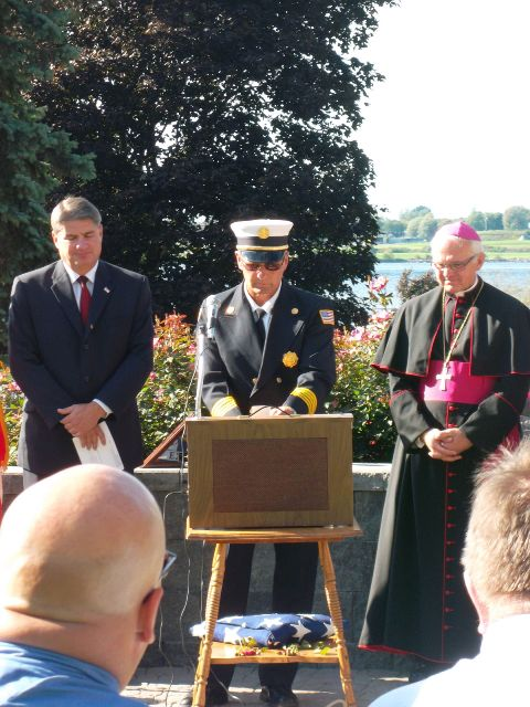 September 11 2011 Fire Chief Reciting Firemens Pra
